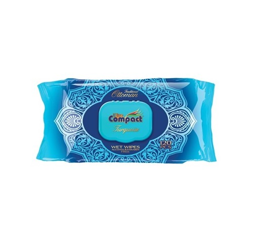Șervețele Ultra Compact Ottoman Turquoise №120