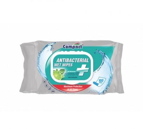 Șervețele umede Ultra Compact Antibacterial №100