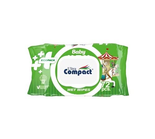 Șervețele umede pentru COPII Ultra Compact ECOPACK №72