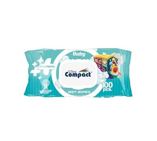 Șervețele umede pentru COPII Ultra Compact Ecopack №100